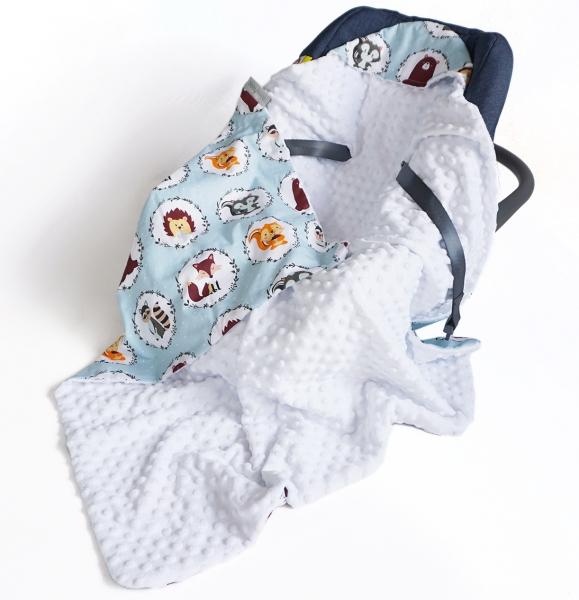 baby-nellys-luxusni-bavlnena-decka-3v1-s-minky-90-x-90-cm-lesni-zviratka-minky-bila