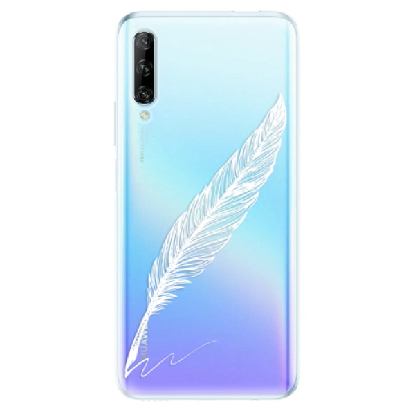 Odolné silikonové pouzdro iSaprio - Writing By Feather - white - Huawei P Smart Pro