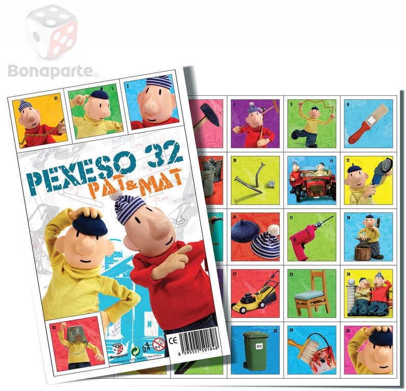 BONAPARTE Pexeso Pat a Mat 32 dvojic obrázkové
