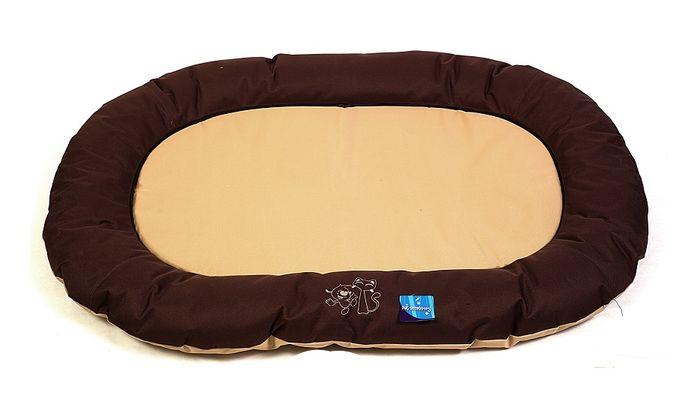 Hnědobéžová psí matrace - 120x80 cm