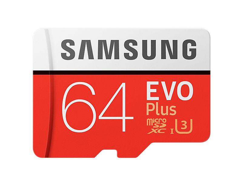 Paměťová karta Samsung micro SDXC EVO Plus 64GB + SD adaptér
