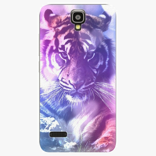 Plastový kryt iSaprio - Purple Tiger - Huawei Ascend Y5