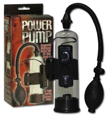 Černá pumpa na penis - Penis Power Pump