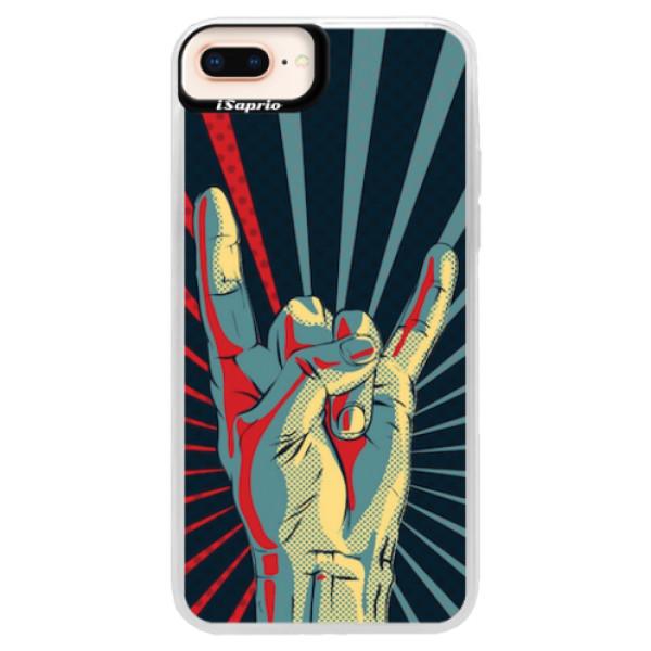 Neonové pouzdro Pink iSaprio - Rock - iPhone 8 Plus