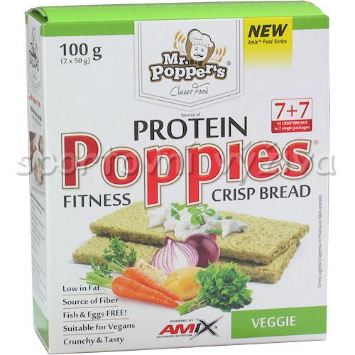 Poppies CrispBread Protein Veggie 100g