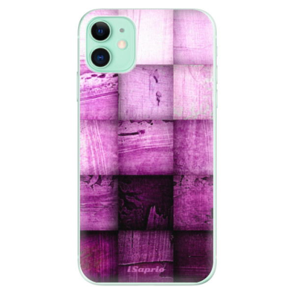 Odolné silikonové pouzdro iSaprio - Purple Squares - iPhone 11