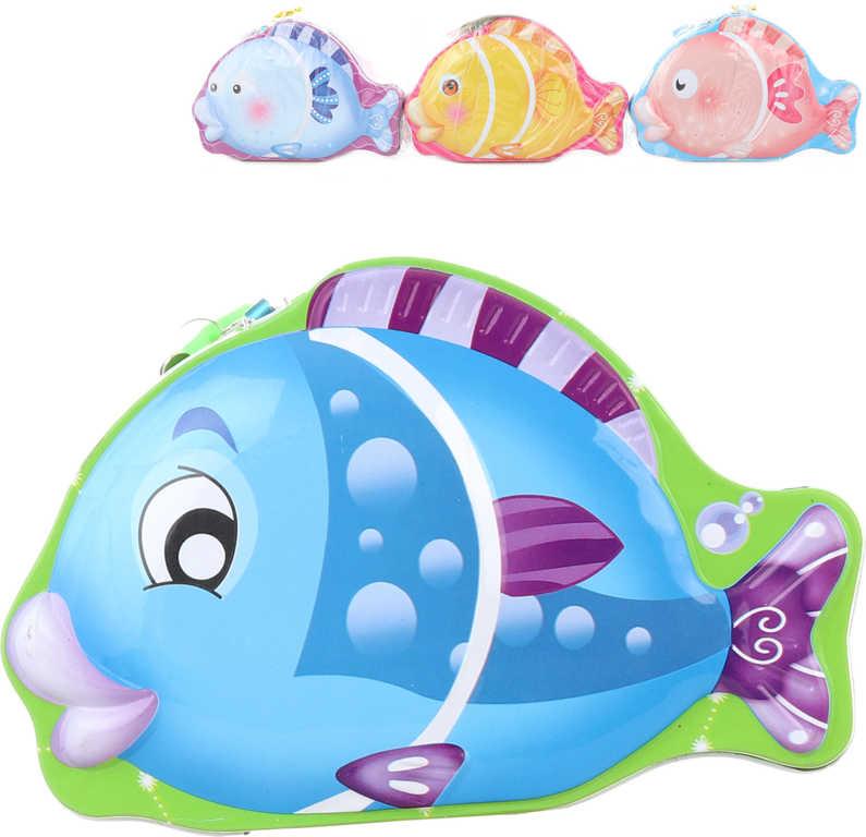 Pokladnička rybička 18cm dětská plechová kasička na zámek 4 druhy