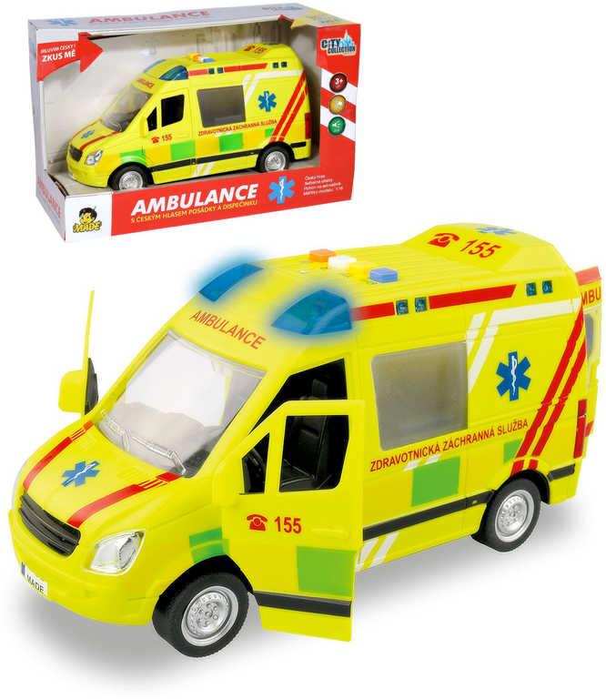 Auto City Collection česká ambulance na setrvačník 22cm na baterie CZ