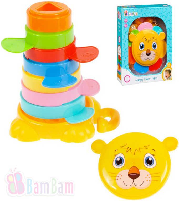 ET BAM BAM Baby věž veselá tygr skládačka pro miminko
