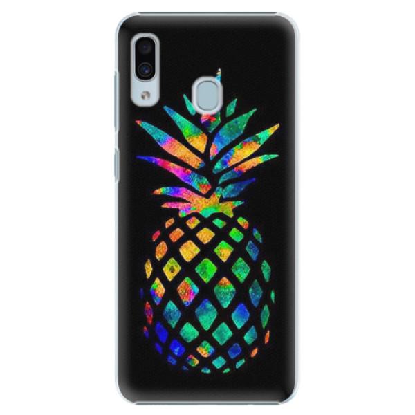 Plastové pouzdro iSaprio - Rainbow Pineapple - Samsung Galaxy A30