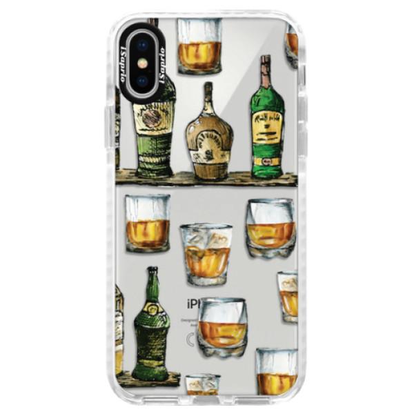 Silikonové pouzdro Bumper iSaprio - Whisky pattern - iPhone X
