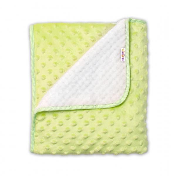 baby-nellys-detska-luxusni-oboustranna-deka-s-minky-80x90-cm-zelena-kremova
