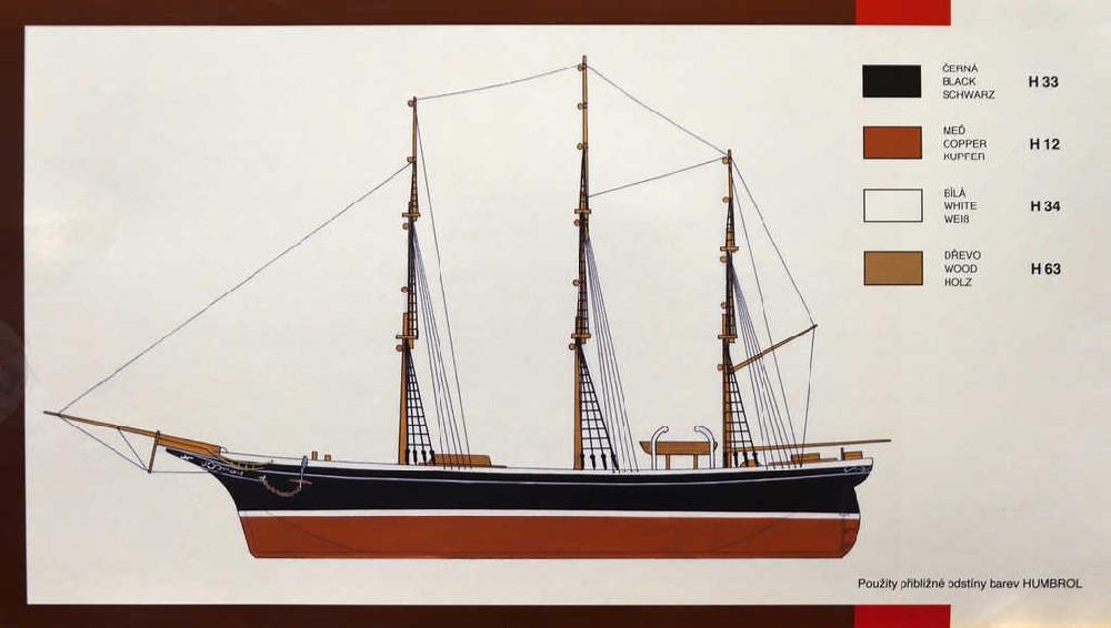 SMĚR Model loď Cutty Sark 1:180 (stavebnice lodě)