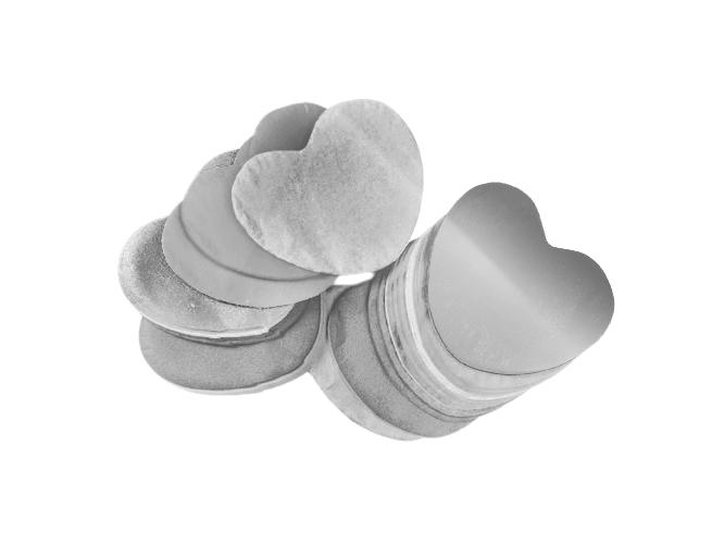 Tcm Fx metalické konfety, srdíčka 55x55mm, stříbrné, 1kg