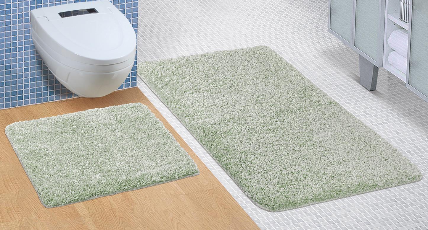 Koupelnová sada předložek Micro 60x100+60x50cm zelená
