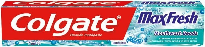 Max Fresh Mouthwash Beads 75 ml Zubní pasta