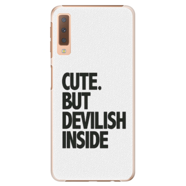 Plastové pouzdro iSaprio - Devilish inside - Samsung Galaxy A7 (2018)