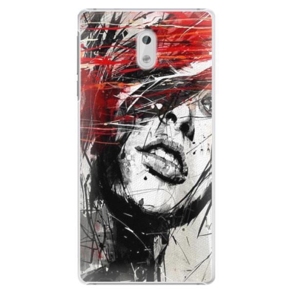 Plastové pouzdro iSaprio - Sketch Face - Nokia 3