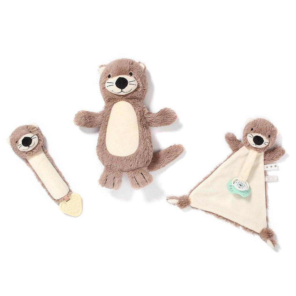 Usínáček Baby Ono Otter Maggie s poutkem pro dudlík - hnědá