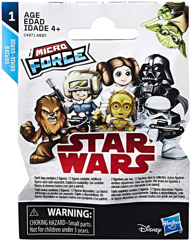 HASBRO Mini figurka Star Wars Micro Force set 2ks s překvapením v sáčku