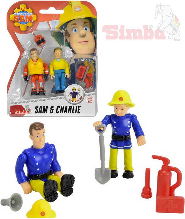 SIMBA Figurka Požárník Sam 7,5 cm a jeho kamarádi set 2 figurky - 4 druhy
