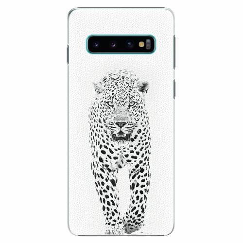 Plastový kryt iSaprio - White Jaguar - Samsung Galaxy S10