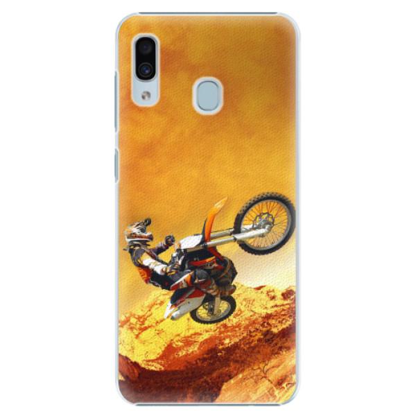 Plastové pouzdro iSaprio - Motocross - Samsung Galaxy A30