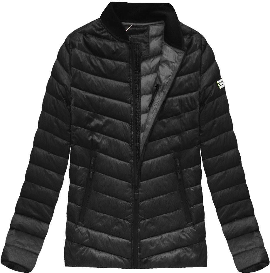 Černá pánská bunda s přírodní vycpávkou (5021) - Černá/M