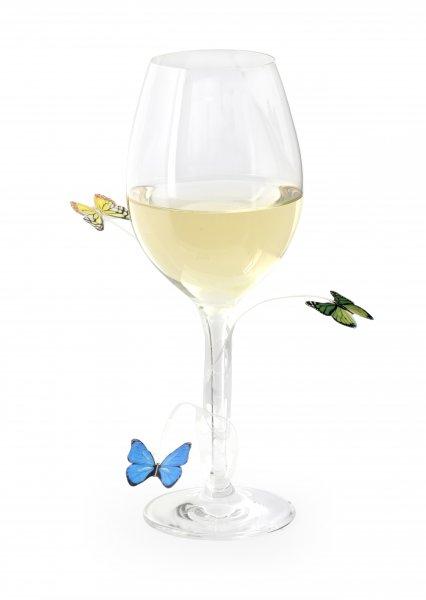 Označovač skleničky na párty - motýlci