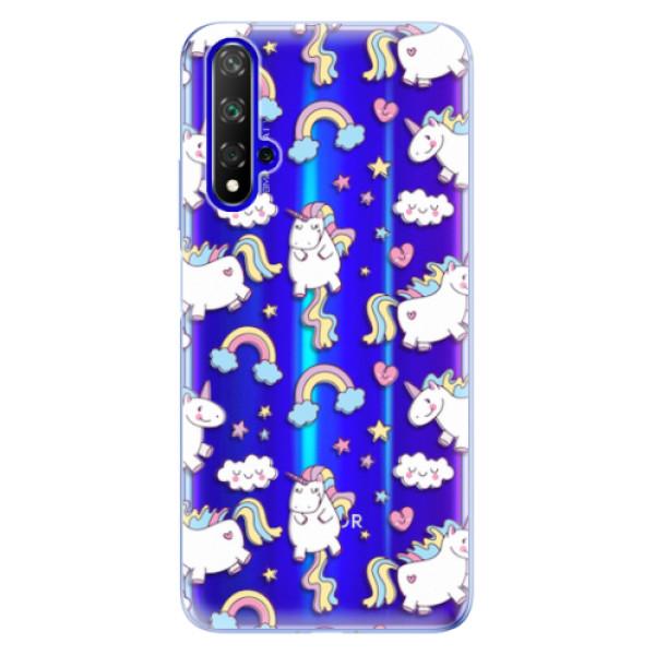 Odolné silikonové pouzdro iSaprio - Unicorn pattern 02 - Huawei Honor 20