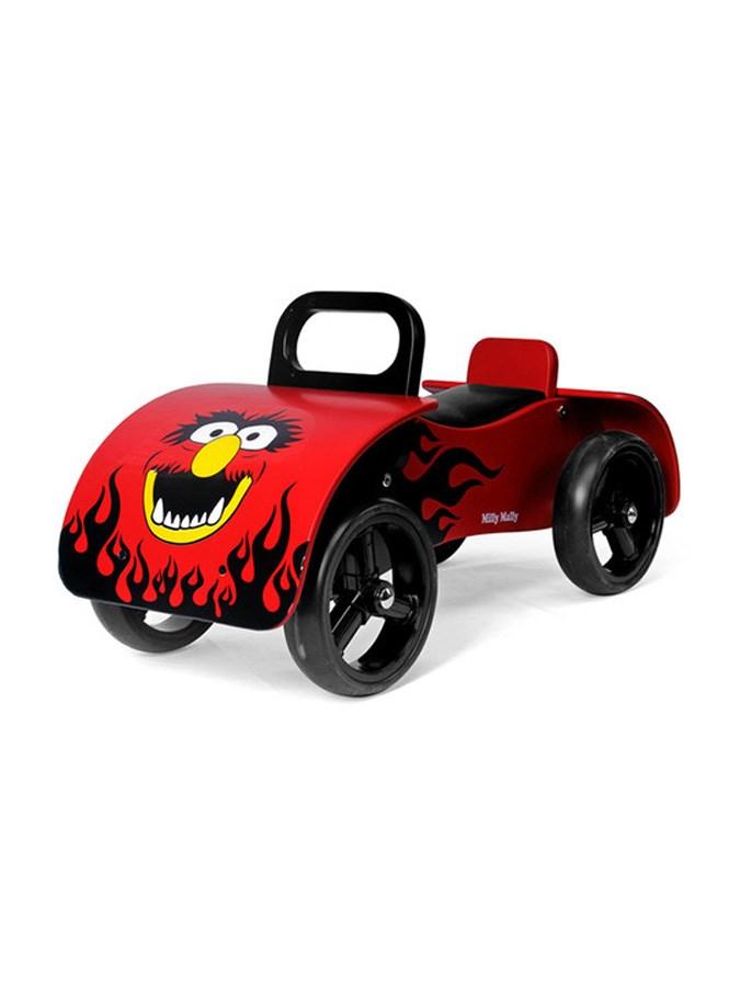 Dětské dřevěné odrážedlo Milly Mally Junior red - červená