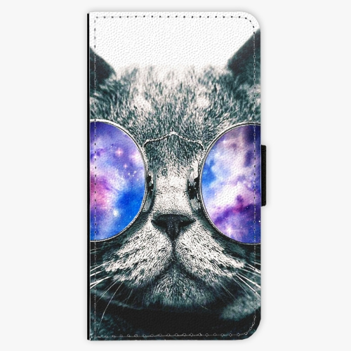 Flipové pouzdro iSaprio - Galaxy Cat - Sony Xperia X Compact