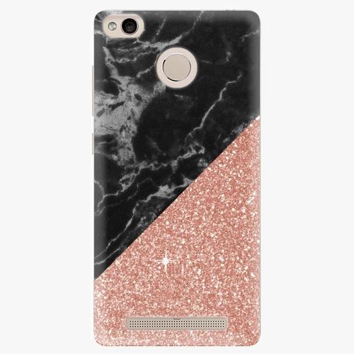 Plastový kryt iSaprio - Rose and Black Marble - Xiaomi Redmi 3S