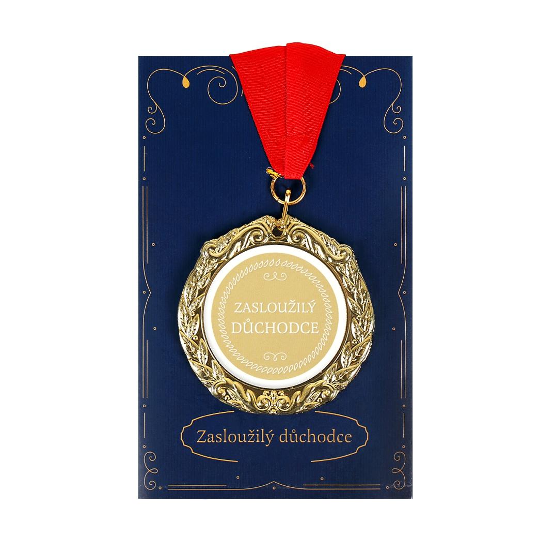 Přání s medailí - Důchodce