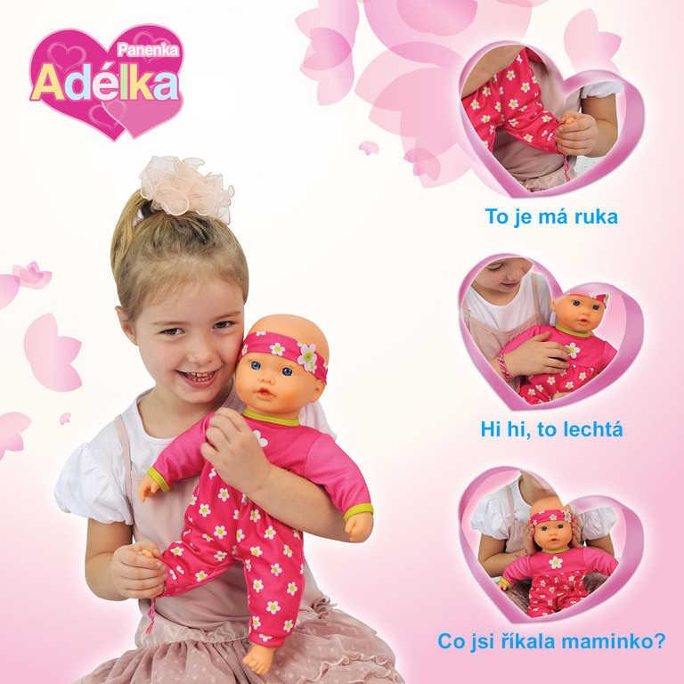 Panenka Adélka miminko 40 cm s funkcemi