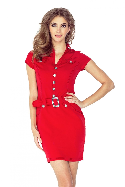 Dámské šaty 142-4 - Červená/L