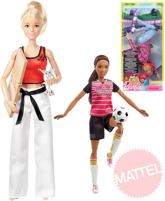 MATTEL BRB Panenka Barbie sportovkyně 29cm set s doplňkem 4 druhy