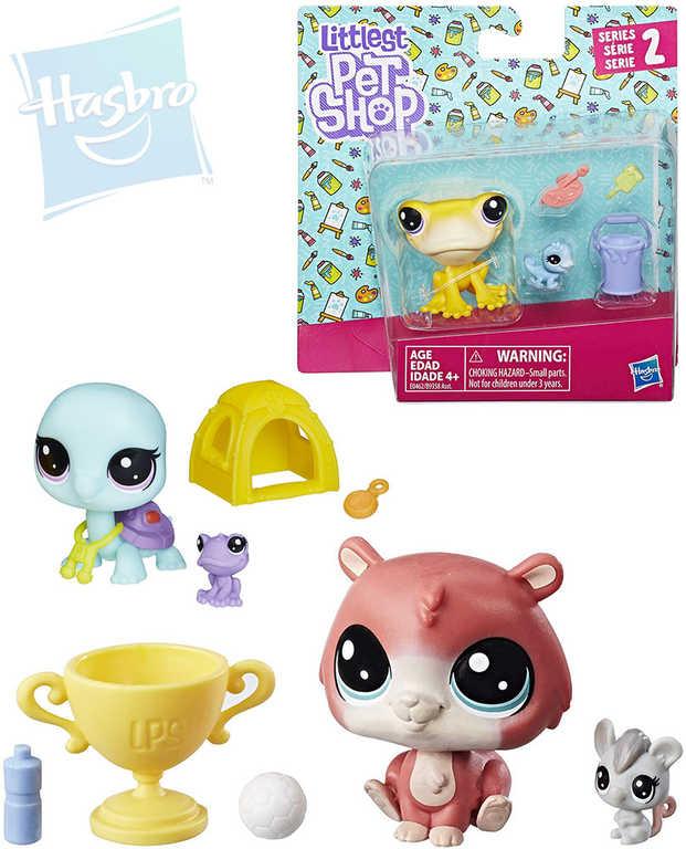 HASBRO LPS Maminka + miminko Littlest Pet Shop zvířátko set s doplňky 4 druhy