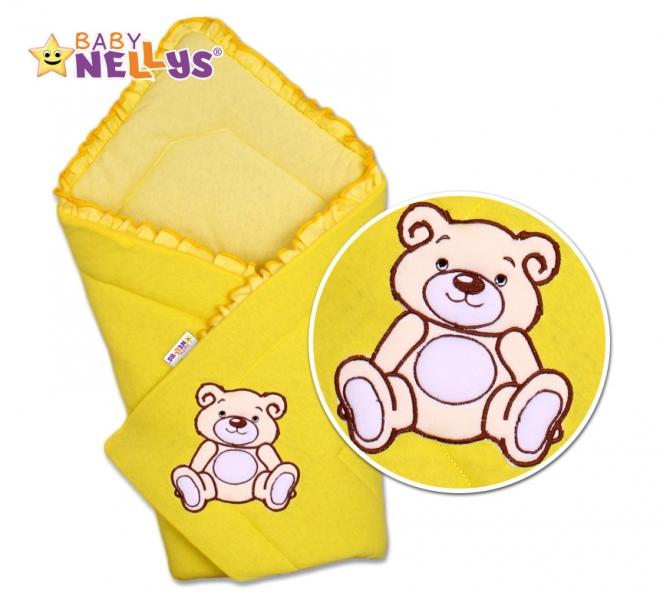 Zavinovačka Teddy Bear - velur - žlutá