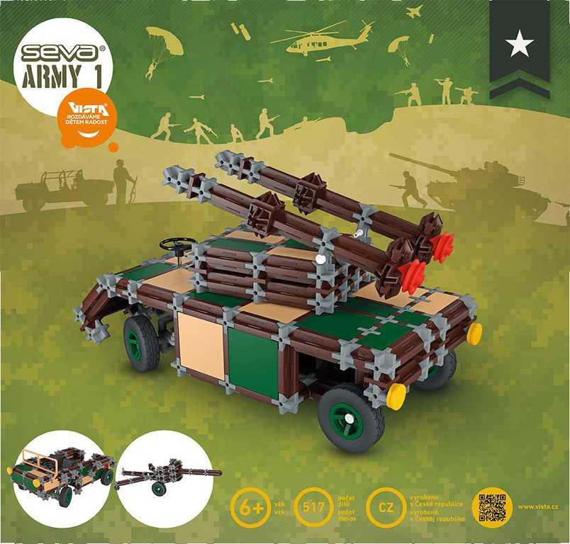 VISTA SEVA ARMY 1 polytechnická STAVEBNICE 517 dílků