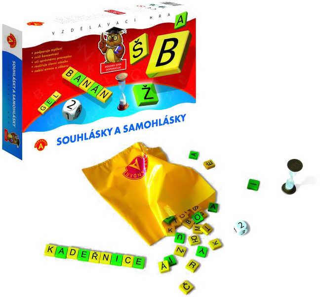 Samohlásky a souhlásky hra vzdělávací v krabici *SPOLEČENSKÉ HRY*