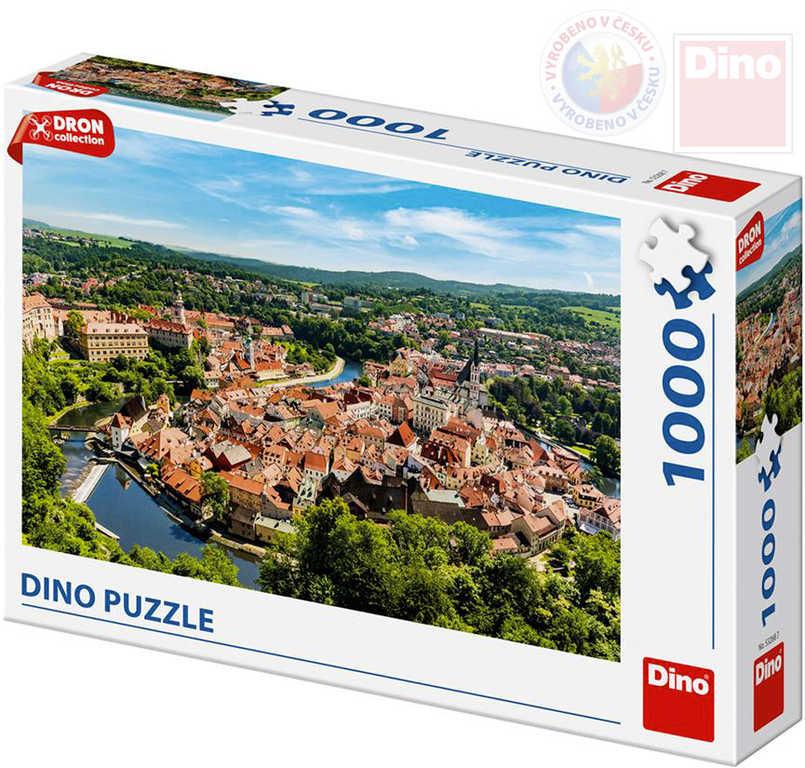 DINO Puzzle 1000 dílků Český Krumlov dron collection 66x47cm skládačka v krabici