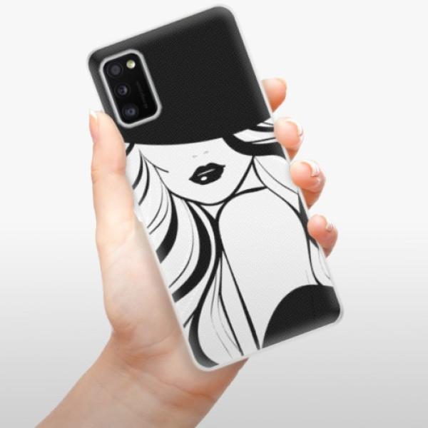 Odolné silikonové pouzdro iSaprio - First Lady - Samsung Galaxy A41