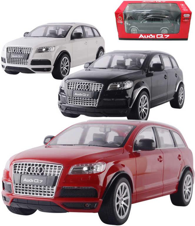 RC Auto Audi Q7 na dálkové ovládání 1:24 na baterie 27MHz 3 barvy