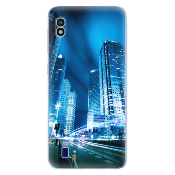 Odolné silikonové pouzdro iSaprio - Night City Blue - Samsung Galaxy A10