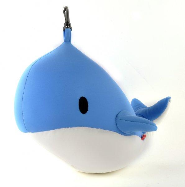 Oboustranný cestovní polštářek ve tvaru velryby