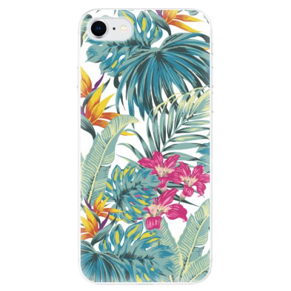 Odolné silikonové pouzdro iSaprio - Tropical White 03 - iPhone SE 2020