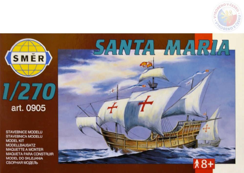 SMĚR Model loď Santa Maria 1:270 (stavebnice lodě)