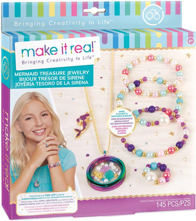 MAKE IT REAL Náhrdelník s medailonky a náramek kreativní set s korálky