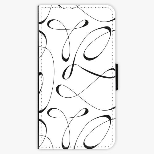 Flipové pouzdro iSaprio - Fancy - black - iPhone X